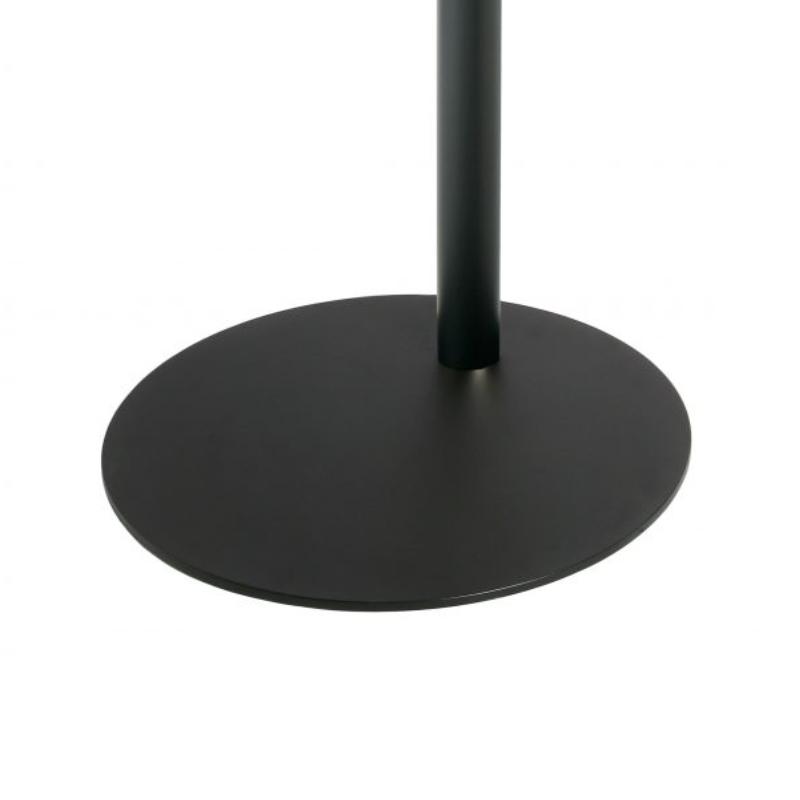 Cavus Base redonda para soporte cilíndrico en color Negro CAV-F21