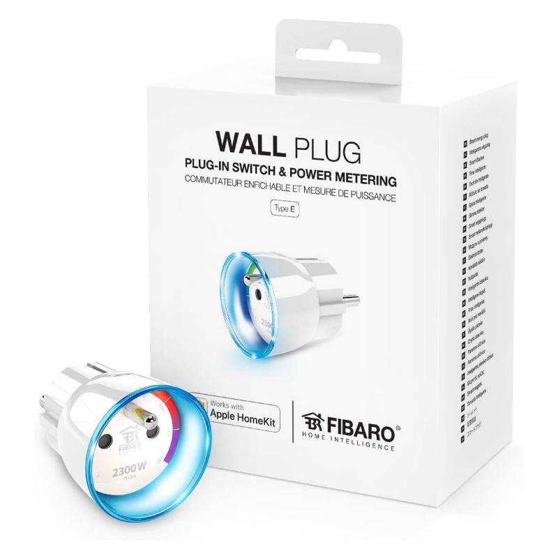 Fibaro wall plug conector de pared enchufe FGBWHWPE-102