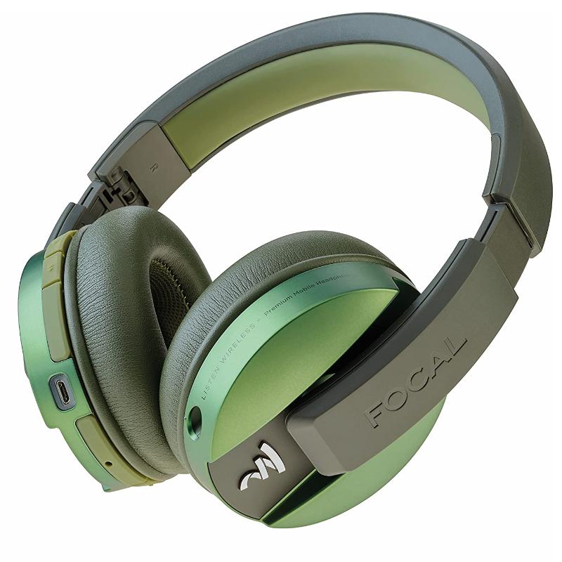 Focal Auriculares Cascos Listen Chic Verde Oliva Olive