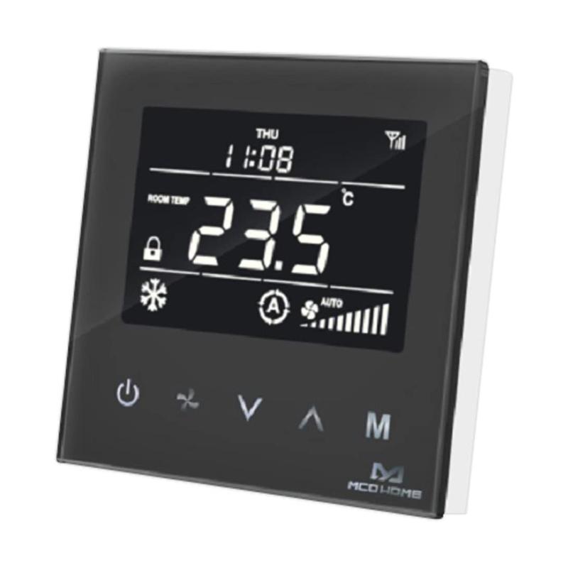 MCO Home Termostato Control de Climatización MH8-FC Negro