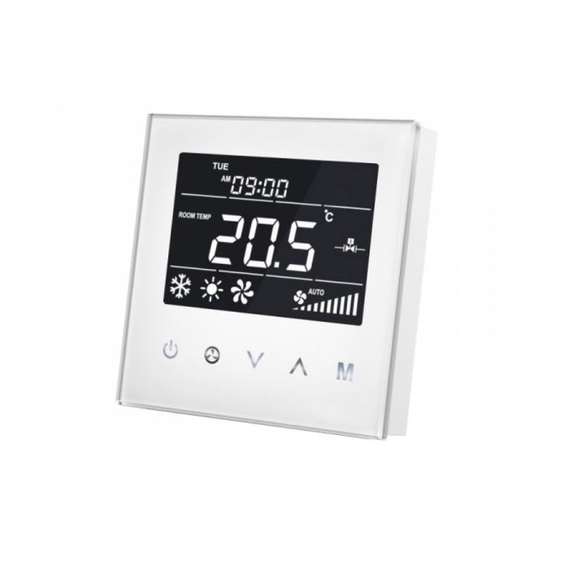 MCO Home Termostato Control de Climatización MH8-FC Blanco