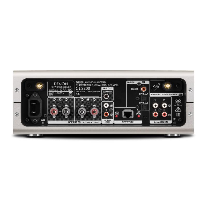Conexiones Denon Receptor Estéreo DRA-100