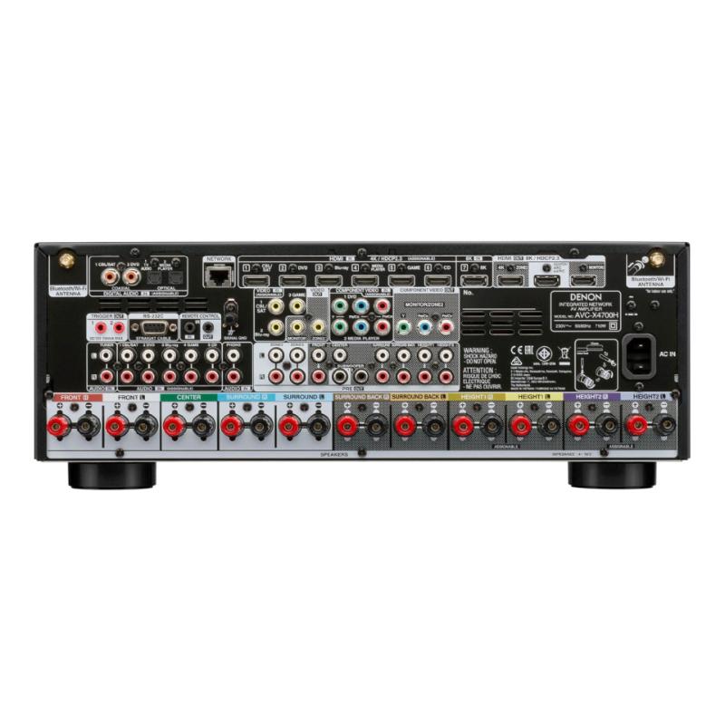 Conexiones detalle amplificador AV denon AVC X4700H