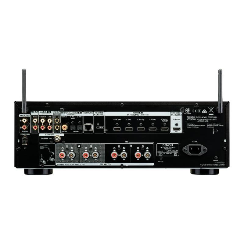 Denon Receptor AV DRA-800H Detalle de las conexiones